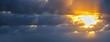 sun rays in a grey sky
