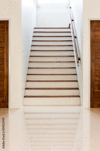 Foto op Plexiglas Trappen the door beside the stairs