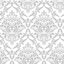 Gray Damask Pattern 2