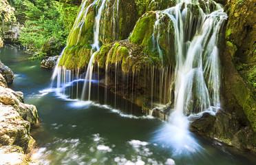 Fototapeta na wymiar Bigar waterfall in summer.