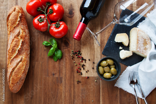 Poster  Ingredients for an Italian meal