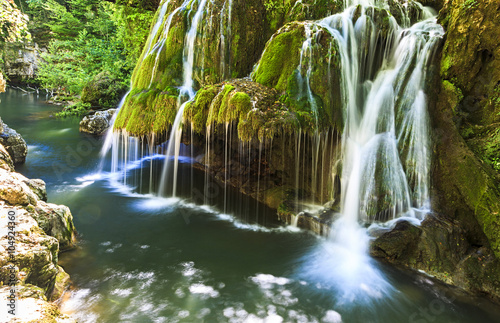 Fototapeta Bigar waterfall in summer.