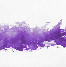 Purple Watercolor Paint Banner...