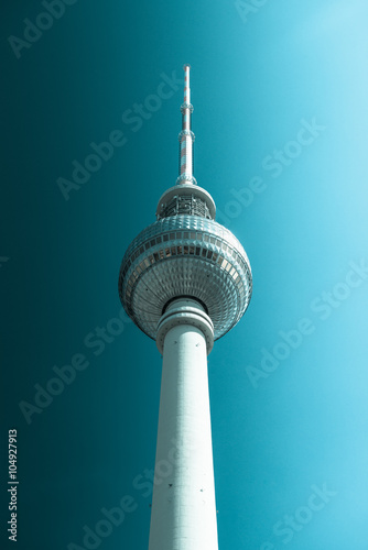 Keuken foto achterwand Berlijn Berlin Fernsehturm Cold Color Processing