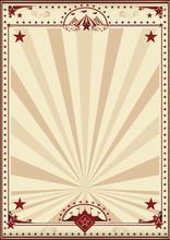 Circus Retro Poster Sunbeams