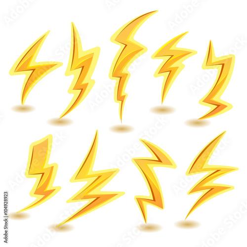 Obraz Lightning Bolts Set - fototapety do salonu