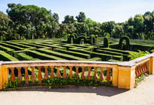 Park Labyrinth  In Barcelona S...