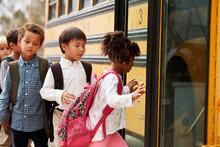 Elementary School Kids Climbin...