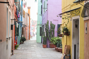 Fototapeta na wymiar Colorful street