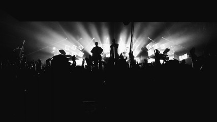Concert black and white photo