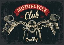 Biker Driving A Motorcycle Rid...
