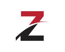 Z Red Letter Swoosh Logo