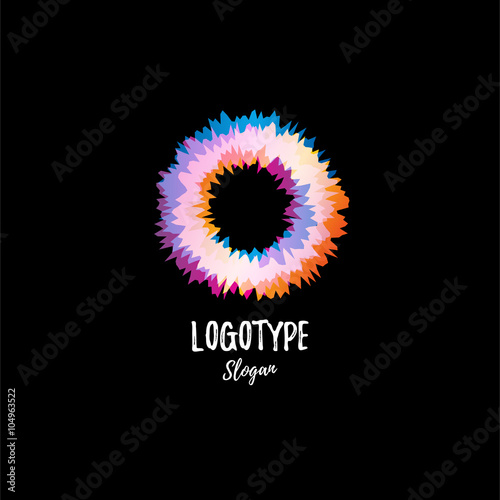 Fotografie, Obraz  Color wheel, donut, circle. Vibration. Abstract vector logo.