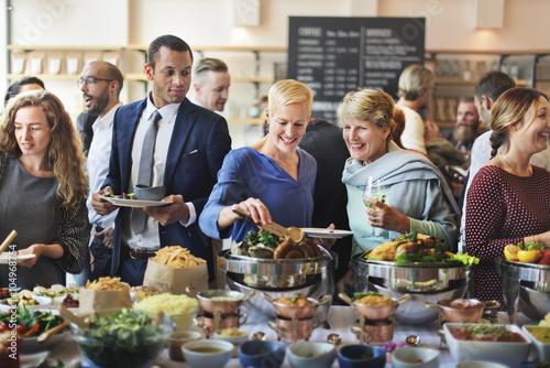 Pinturas sobre lienzo  Catering Eating Companionship Buffet Festive Concept