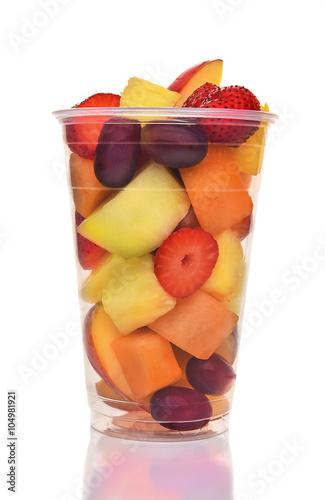 Foto op Aluminium Vruchten Cup of Fresh Cut Fruit