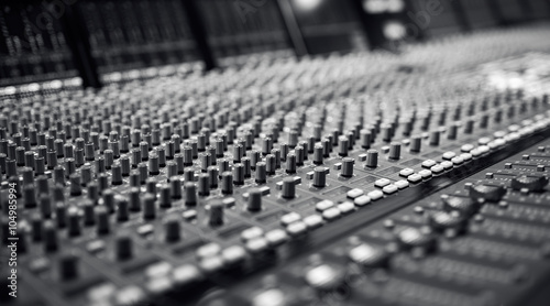 Fotografie, Obraz  Audio Mixing Board