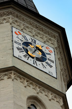 St Michael's Church, Vienna, With Tower Clock And Austra Symbols
