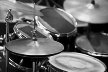 Detail Of A Drum Kit In Black ...