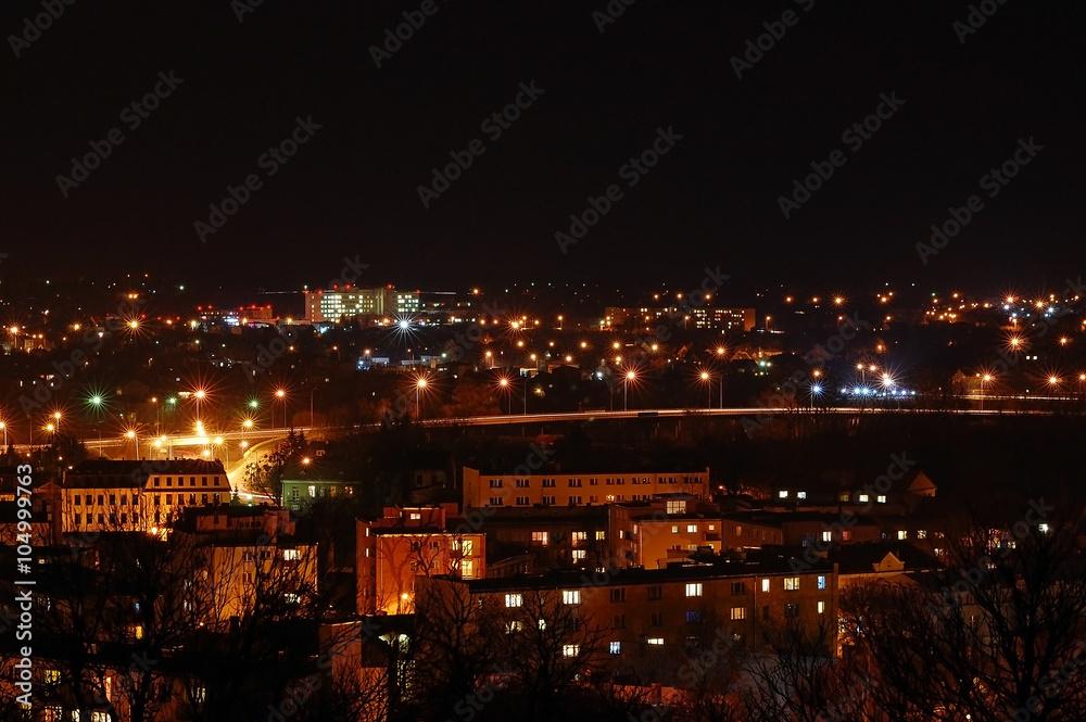 Fototapety, obrazy: Chełm nocą