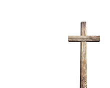 Old Brown Wooden Cross