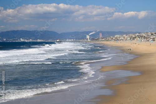 Foto op Plexiglas Los Angeles Los angeles beach side side view