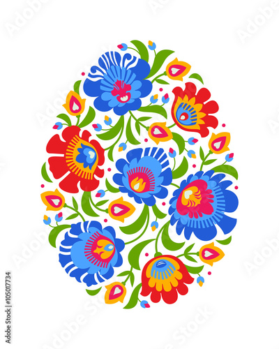 obraz lub plakat Polish folk inspired Easter egg