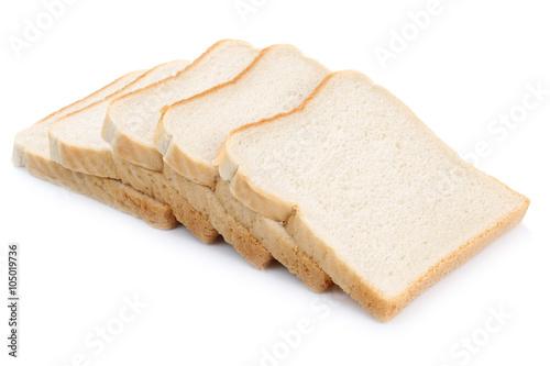 Leinwand Poster Toast Brot Toastbrot Scheiben Freisteller freigestellt isoliert