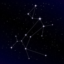 Canis Major Constellation With Sirius Star
