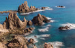 Landscape in the Sirens Reef. Natural Park of Cabo de Gata. Spain.