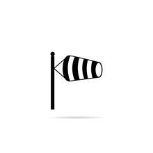 Icon Wind Speed Flag.