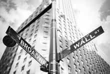 Wall Street And Broadway Sign ...