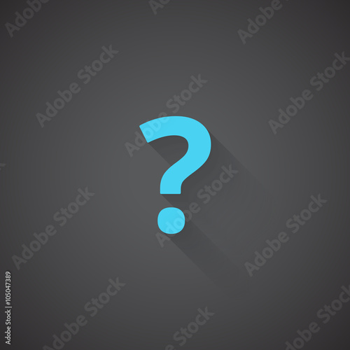 Flat Question Mark web app icon on dark background - Buy this stock