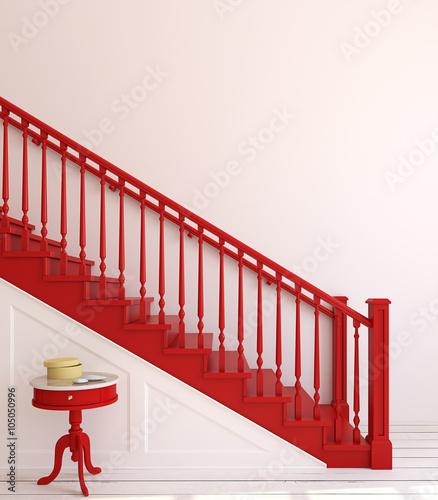 Fototapeta Stairway. 3d rendering. obraz na płótnie