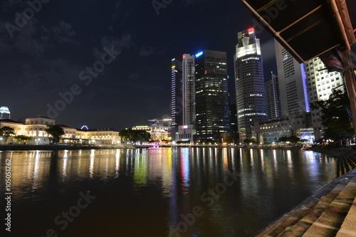 Photo  Singapore waterfront at marina bay
