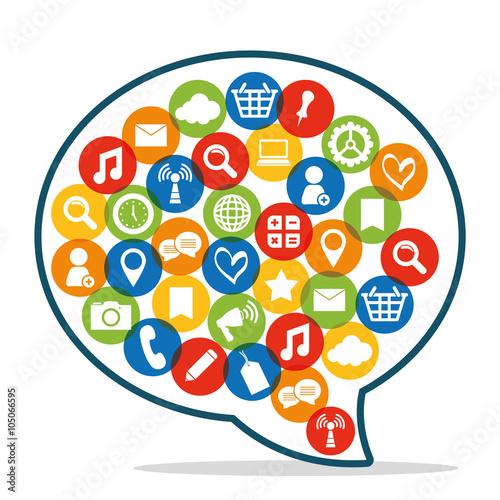 Social media design  #105066595