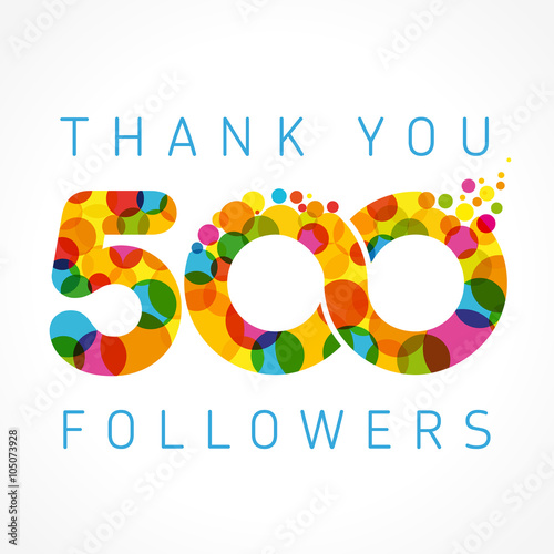 Fotografia  Thank you 500 followers colored numbers