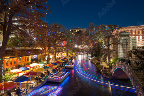 Foto op Plexiglas Texas River Walk in San Antonio Texas