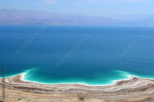 Canvas Prints Blue landscape of the Dead Sea, Israel