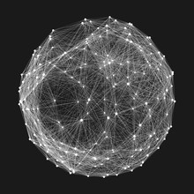 Connection Structure. Wirefram...