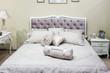 Luxury Interior.Antique Bed in baroque