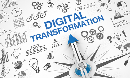 Fotografie, Obraz  digital Transformation