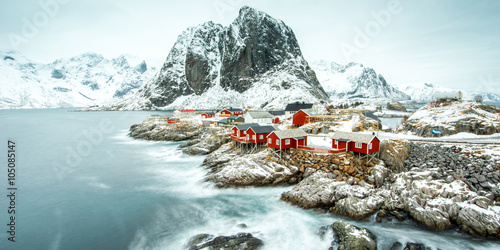 Fotografie, Obraz Fisherman's village, Lofoten island