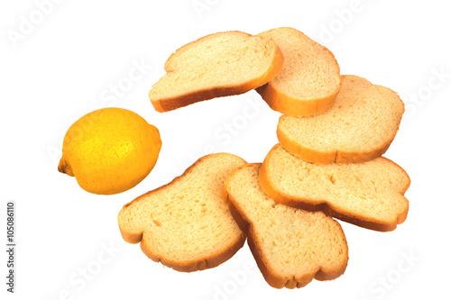 Fotografie, Obraz  Nakrájený chléb vyložit v podobě pacman