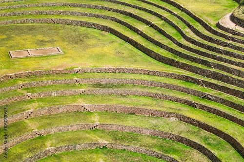 Foto auf Gartenposter Reisfelder Moray inca ruins