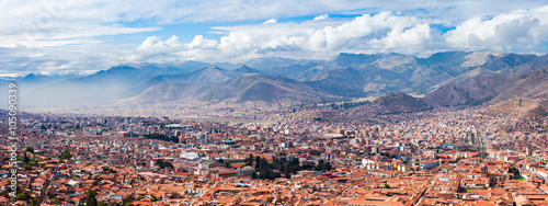 Poster South America Country Cusco aerial view