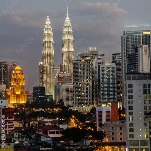Foto op Aluminium Kuala Lumpur Skyline von Kuala Lumpur