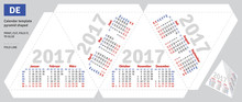 Template German Calendar 2017 Pyramid Shaped, Vector