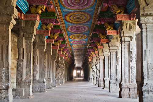 Wall Murals Place of worship Inside Meenakshi temple