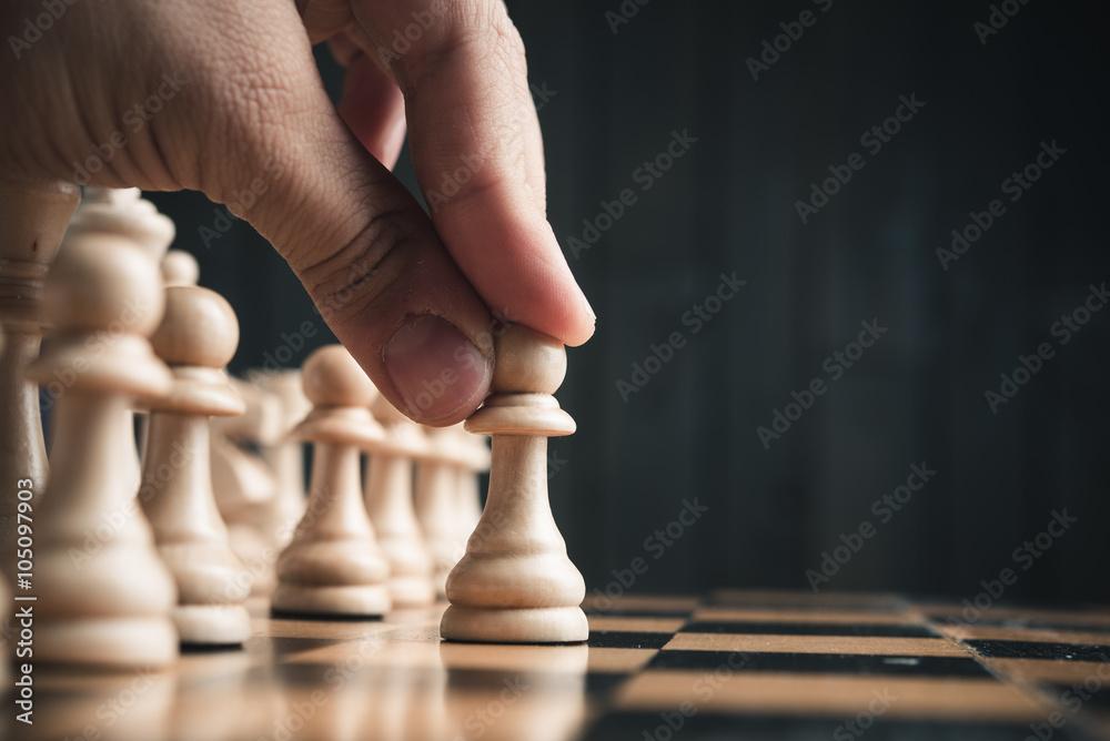 Fotografía Chess pieces on the board