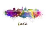 Lodz skyline in watercolor - 105099570